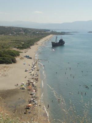 Navagio - Karavi Beach - Gytheio Mani Laconia Greece  - Elaionas Studios Apartments Gytheio Greece -   Contact: Stavropoulos Evangelos -   Tel. +30-27330-21512 Mobile. +30-697-3788697 -   www.elaionas-studios.gr  info@elaionas-studios.gr