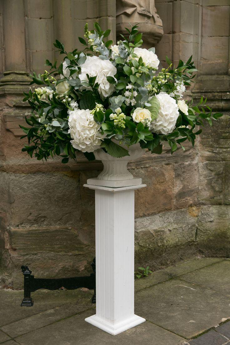 Stunning High White Floral Arrangement to put around your venue!