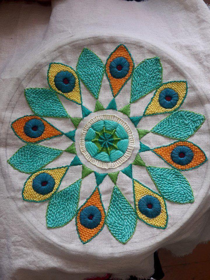 Mandala bordada