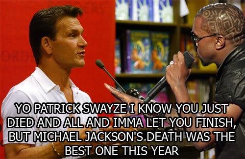 Patrick Swayze Funeral | re: Kanye West / Patrick Swayze Funeral (BroadwayWorld.com)