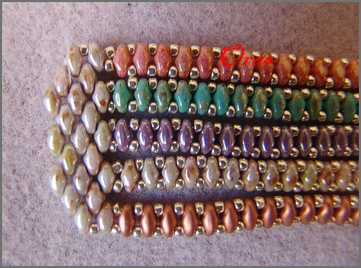 Beadtales סיפורים חרוזים: סדנה - סיומת Superduo Strands Bracelet