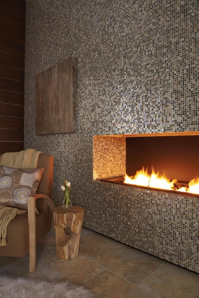 Eclectic mosaic tile fireplaces to adorn your home Decor | Home Decor | Mosaic Fireplaces | Mosaic Tiles | #Mozaico
