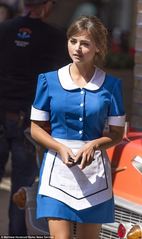 Clara Oswald (Jenna-Louise Coleman) in Series 9.