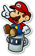 Cutout Mario & Huey - Paper Mario: Color Splash