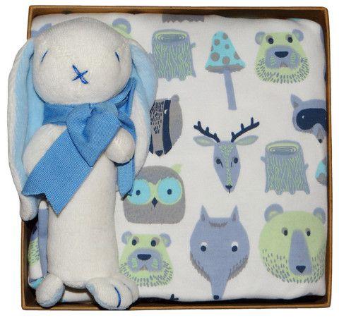 Organic Gift Box - Woodland - Blue (Birth - 6 months)