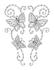 embroidery pattern - butterflies