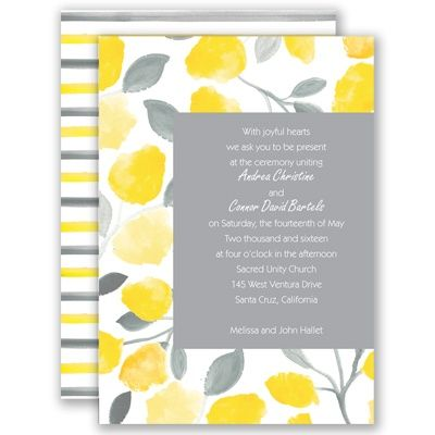 Floral Gallery - Sunbeam - Invitation