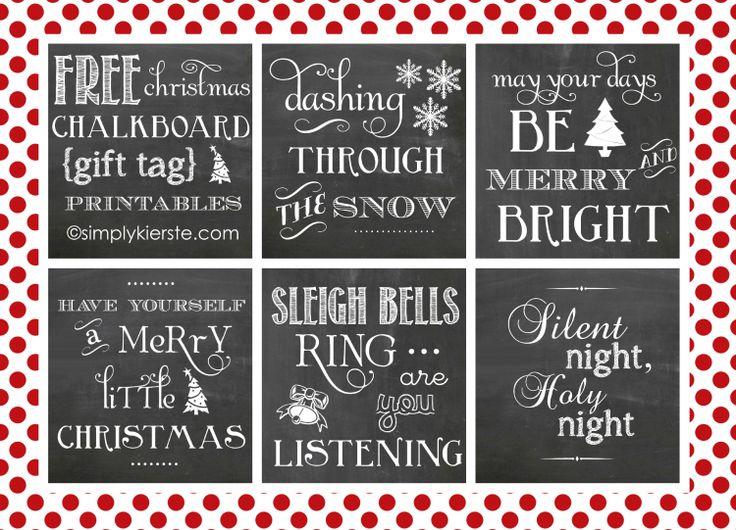 chalkboard christmas printables collage