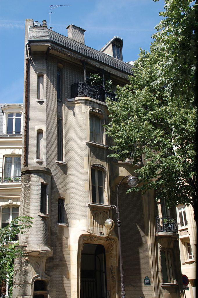 Front façade - Hôtel Guimard, 122 Avenue Mozart, Paris