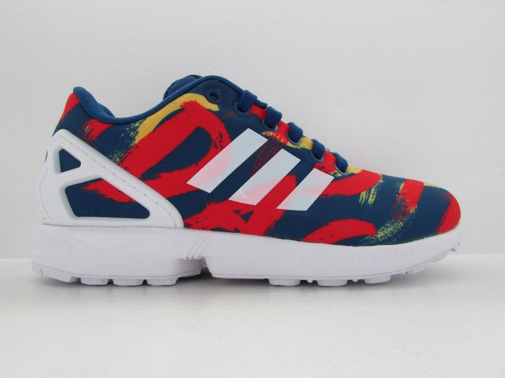 quality design e4fa5 f8056 Adidas Zx Flux Red And Blue