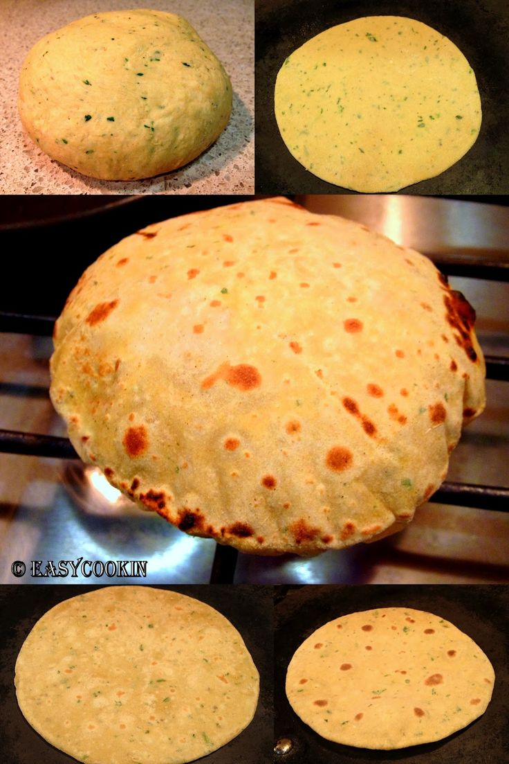 Besan Roti in Process