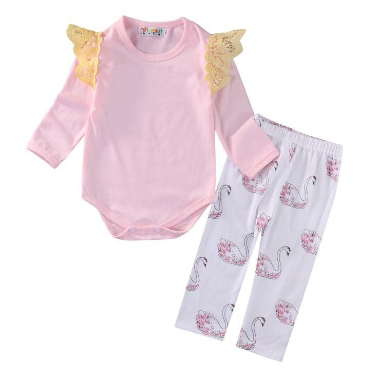 $5.48 (Buy here: https://alitems.com/g/1e8d114494ebda23ff8b16525dc3e8/?i=5&ulp=https%3A%2F%2Fwww.aliexpress.com%2Fitem%2F2Pcs-Cute-Newborn-Baby-Girls-Pink-Tops-long-sleeve-Romper-Long-Swan-Pants-2Pcs-Outfits-Set%2F32781014491.html ) 2Pcs Cute Newborn Baby Girls Pink Tops long sleeve Romper +Long Swan Pants 2Pcs Outfits Set Clothes for just $5.48