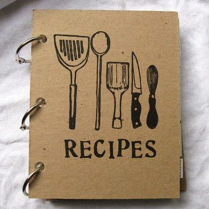 Homemade recipe book cover - Style of illustration is very contemporary