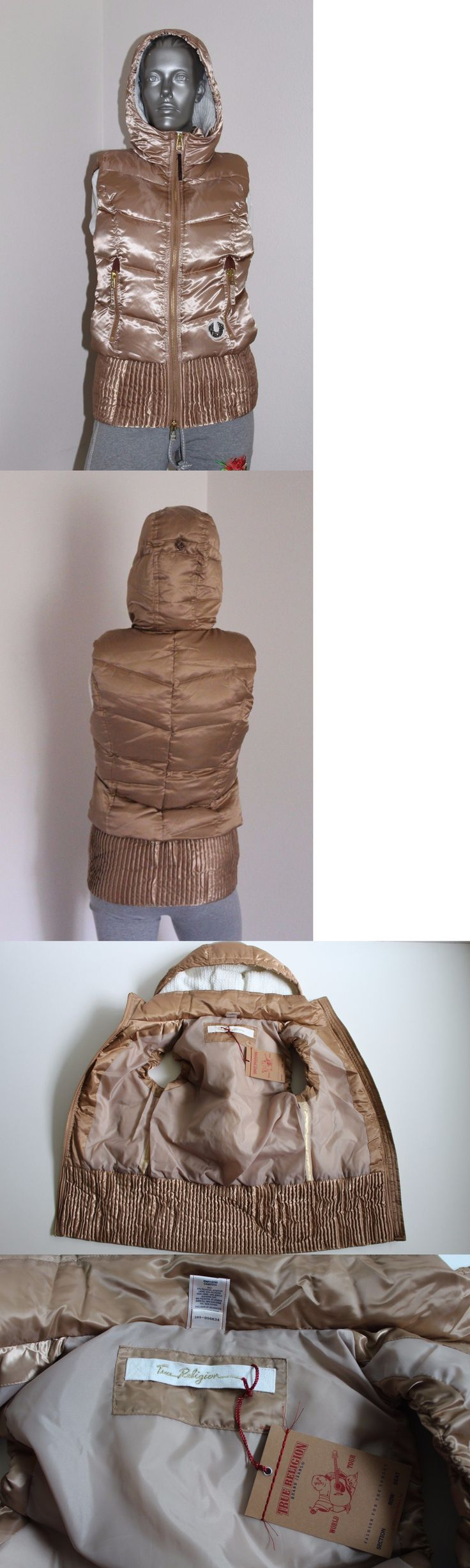 Vests 15775: True Religion Women S Quilted Puff Gilet. Gold Vest. Nwt -> BUY IT NOW ONLY: $59.99 on eBay!