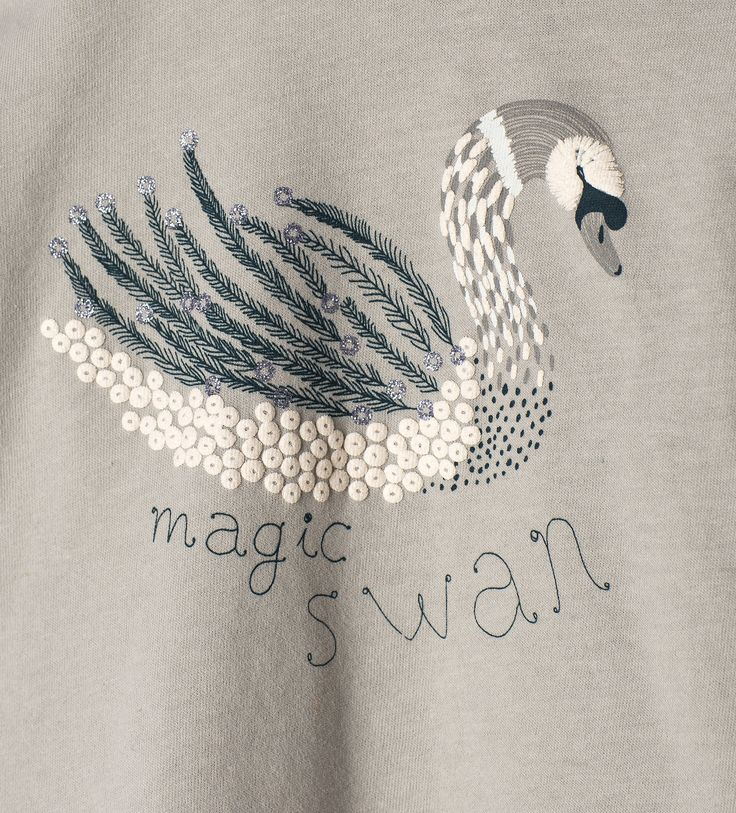 Sequinned swan top - T - shirts - Baby girl - Baby | 3 months - 3 years - KIDS | ZARA United States