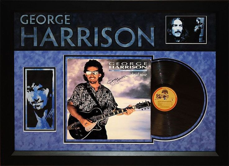 George Harrison - Cloud Nine - Signed Album LP Custom Framed