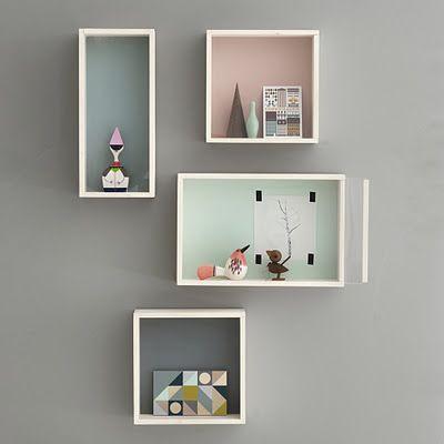 love these shadow boxes w/ plexi sliding doors