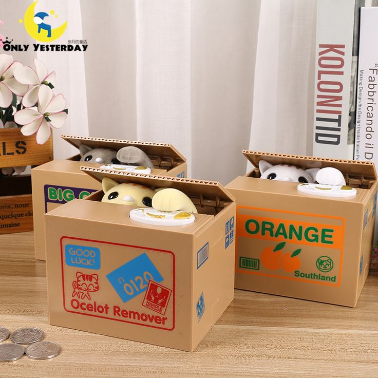 Brand New Cat Steal Coin Piggy Bank Electronic Plastic Money Safety Box Battery Kitty Coin Bank Money boxes for children