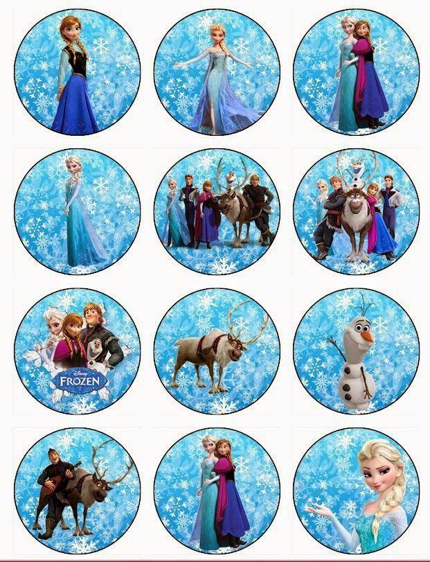 Frozen (Karlar Ülkesi) temalı doğum gününüzü süslemek için kullanabileceğiniz süsleri A4 kağıdına bastırıp istediğiniz biçimde kes...