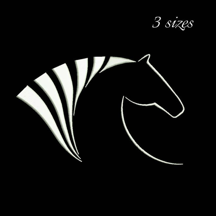 Horse Head Embroidery Machine Designs- digital instant design-towel embroidery-in the hoop-pes files