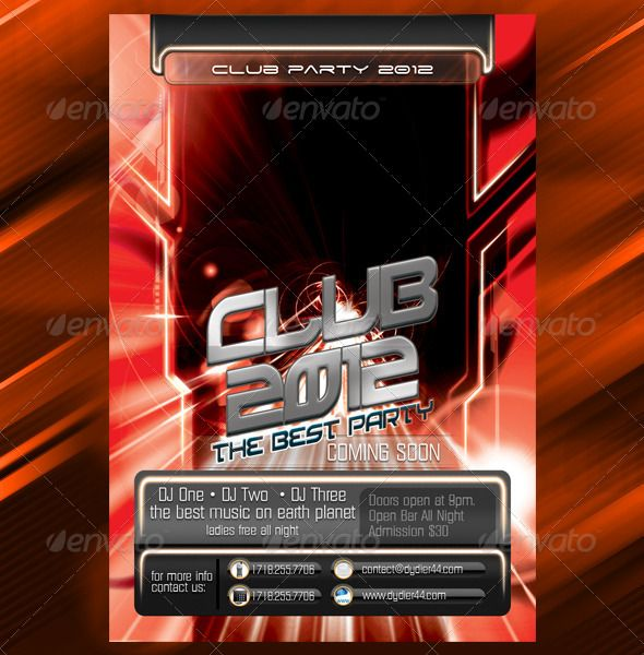 Party Club 2012 (Flyer Template 4x6)