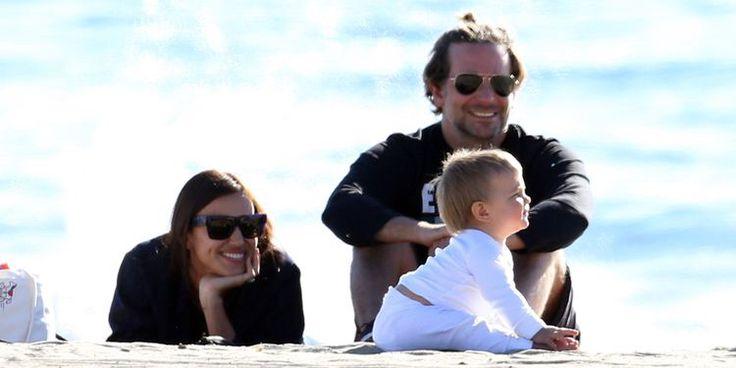 Bradley Cooper, Irina Shayk, and Their Baby Hit the Beach