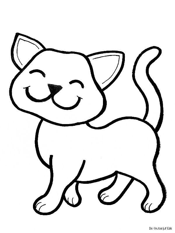 Quatang Gallery- Kleurplaten Katten Kleurplaten Kleurplaat Poezen Katten Katjes Poesjes Kittens Katers Katten Tekening Katten Kittens
