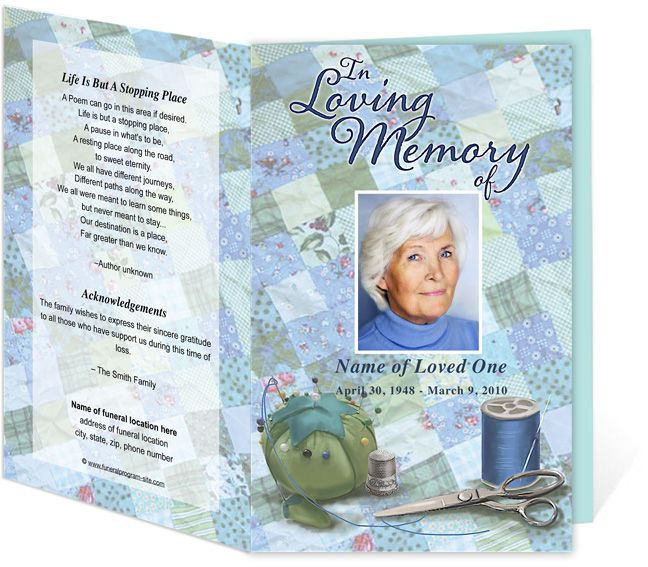 214 best Creative Memorials with Funeral Program Templates images - free funeral template