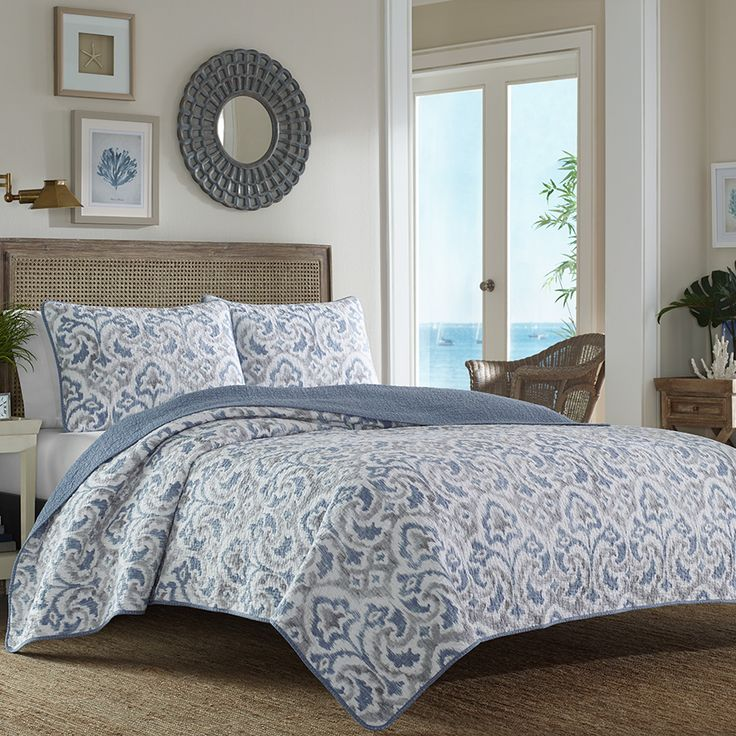 Tommy bahama cape verde smoke quilt set beddingstyle bedroom design tommybahama - Tommy bahama bedroom decorating ideas ...