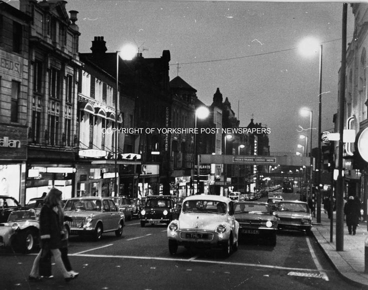 Leeds, Briggate 1971. To order visit: http://yorkshirepost.newsprints.co.uk/search/scu/p/u/185221/1/from%20the%20archive order number. Traffic23