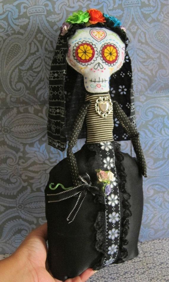 Day of The Dead CATRINA Doll Josephine Hand