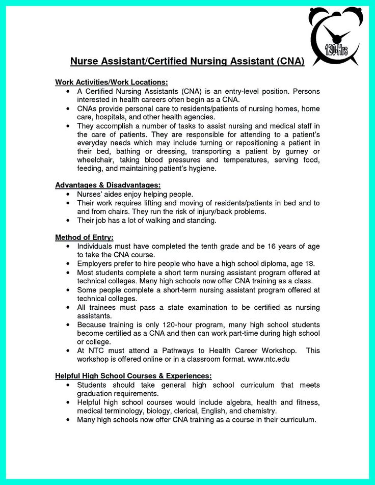 Its not quite difficult to make CAN Resume There are some good choices of CNA Resume Sample