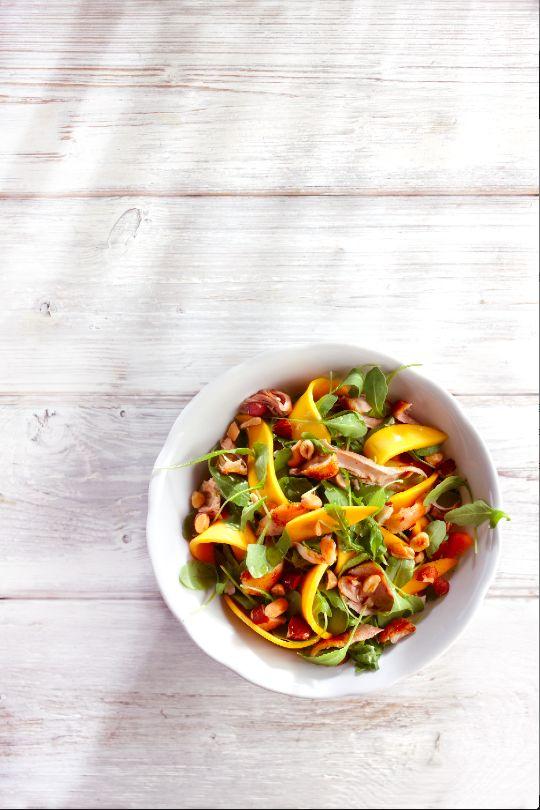 Mangosalade met noten en kip - Boodschappen