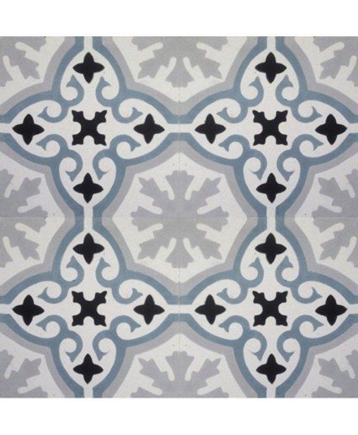 Havana Blue and Grey Encaustic Cement Tile