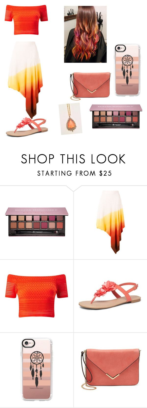 """""""Amber Skies"""" by dawnisaur ❤ liked on Polyvore featuring Anastasia Beverly Hills, J.W. Anderson, Miss Selfridge, Dorothy Perkins and Casetify"""