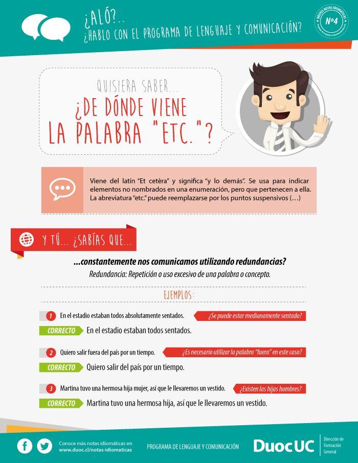¿De dónde viene la palabra ETC? - Breves Notas Idiomáticas | Duoc UC