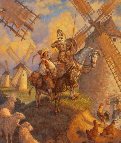 Scott Gustafson (American, 20th Century) - Don Quixote - 2000