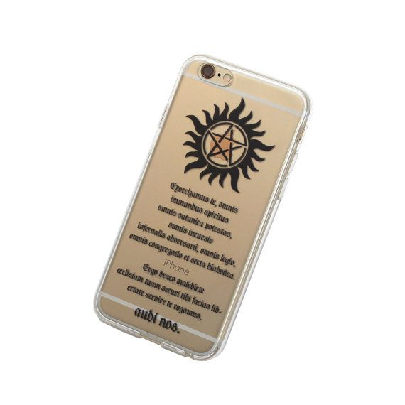 iPhone 6, 6 Plus Supernatural Anti Possession Case - Your choice of Soft Plastic (TPU) or Wood