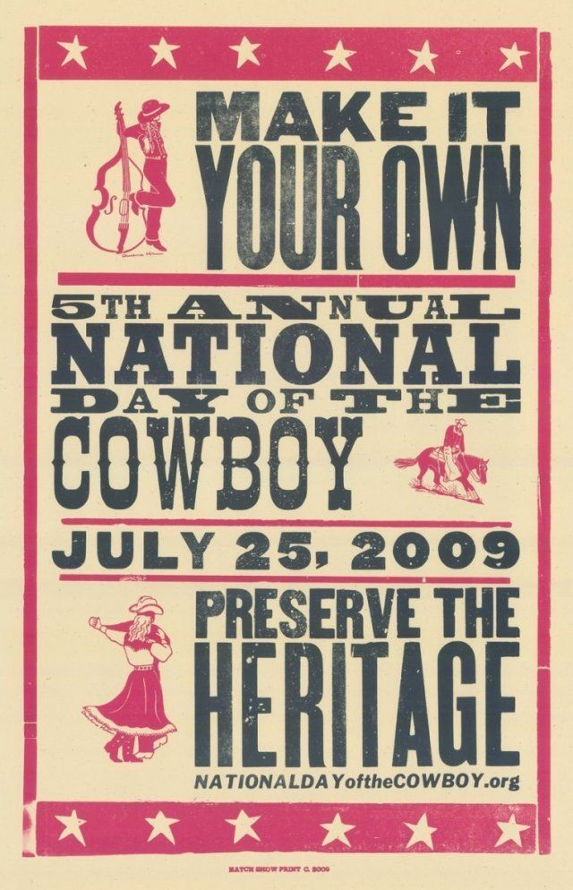 hatch show print wood type | ... the Cowboy :: Preserving Pioneer Heritage - NDOC Hatch Poster Series