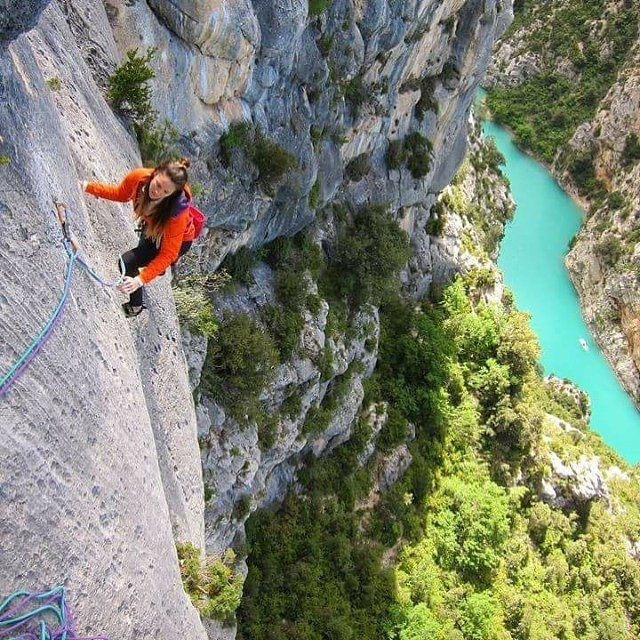 """One of the most amazing places,"" says Uptight Active co-founder of her climbing time in France's Verdon Gorge. Where's your favorite crag?"