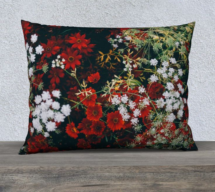 "26""+x+20""+pillow+""Floral""+by+Mixed+Imagery"