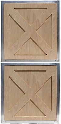 """Armour offers a complete line of lumber fascia options for both half and double dutch doors: the time honored crossbuck """"x"""" as seen here, the traditional tongue and groove plus many more."""