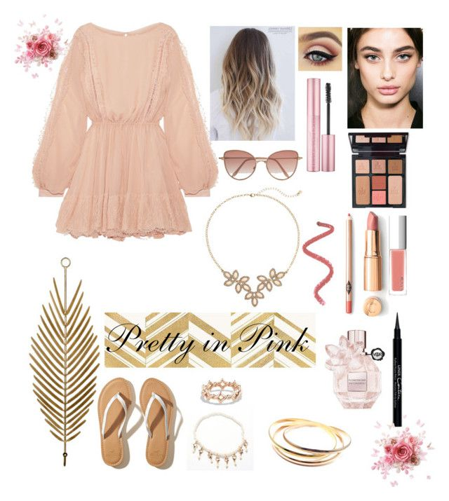 """""""Pretty in Pink"""" by unicornsgotstyle ❤ liked on Polyvore featuring LoveShackFancy, Hollister Co., LC Lauren Conrad, Givenchy, Charlotte Tilbury, RMK, David Yurman, Cutler and Gross, Home Decorators Collection and Cartier"""