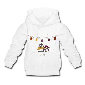 Der #Kapuzenpullover mit den# Pinguinen Oscar & Ole besteht aus 80 % Baumwolle sowie 20 % Polyester und ist der perfekte Begleiter für jedes #Kind.