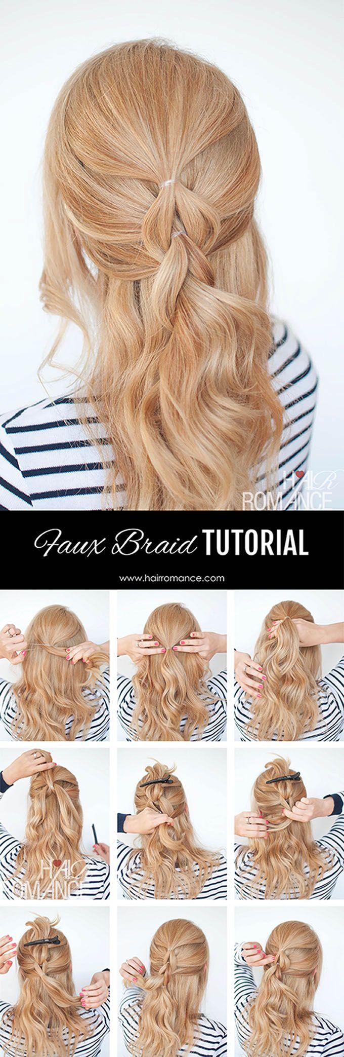 The no-braid braid - Struggling to braid your own hair? This pull through braid…