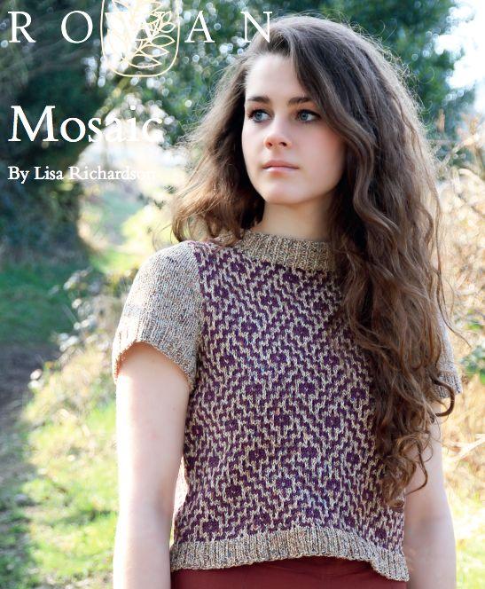FREE ROWAN PATTERN: Mosaic by Lisa Richardson, in Rowan Purelife Revive and Rowan Cotton Glace.