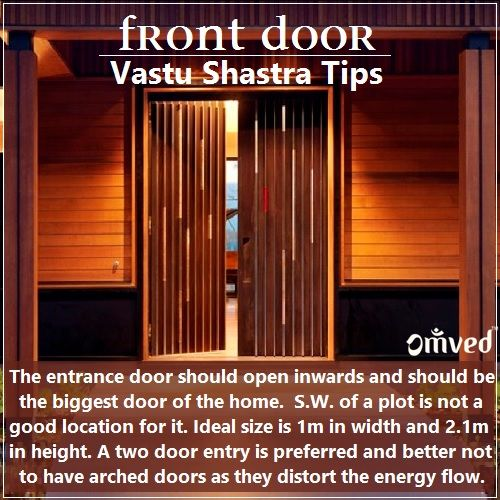 Vastu Shastra gives paramount importance to the front entrance or doorway of a house because this is where the positive energies and vibrations enter. Here are some things to remember when building one.