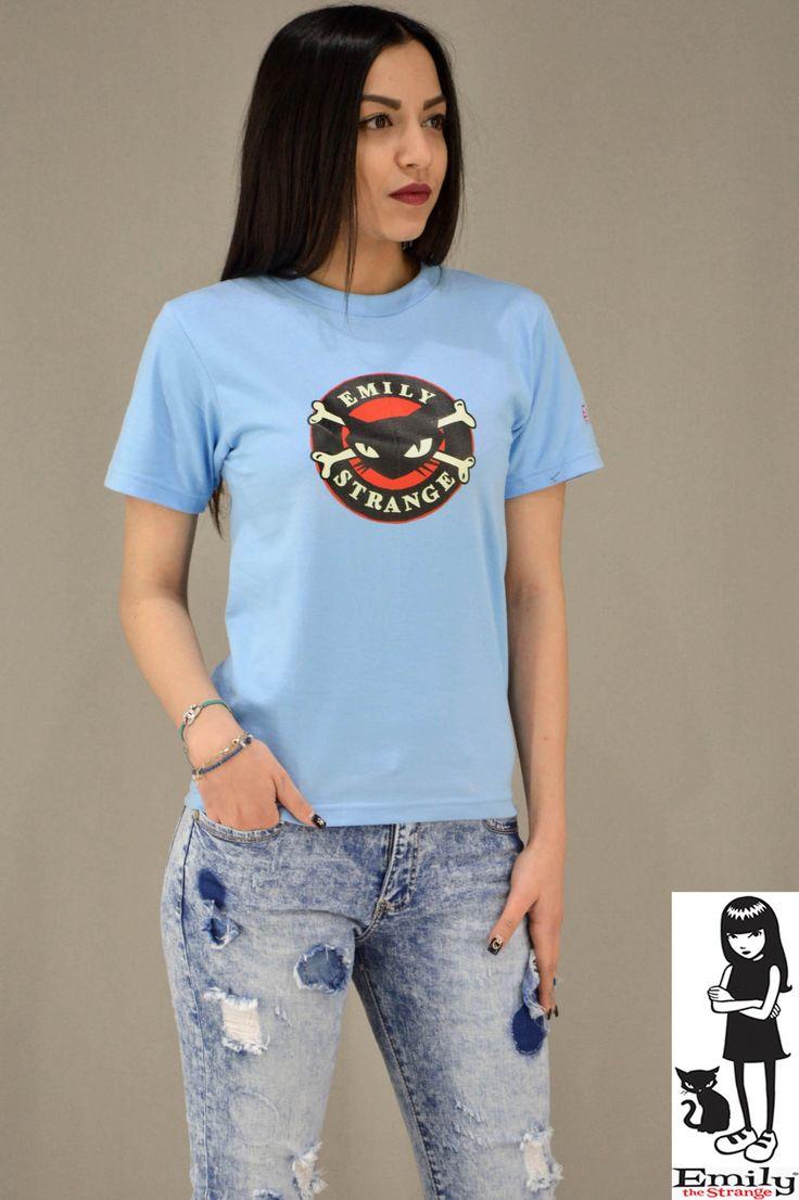 Γυναικείο t-shirt Emily Strange Cat MPLU-0829-Lbl | T-shirts >