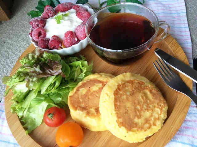 ふわもち♥ヘルシーおから豆腐パンケーキの画像
