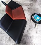 Søro Akademi, Urban Lounge chair by Anne Linde in leather.